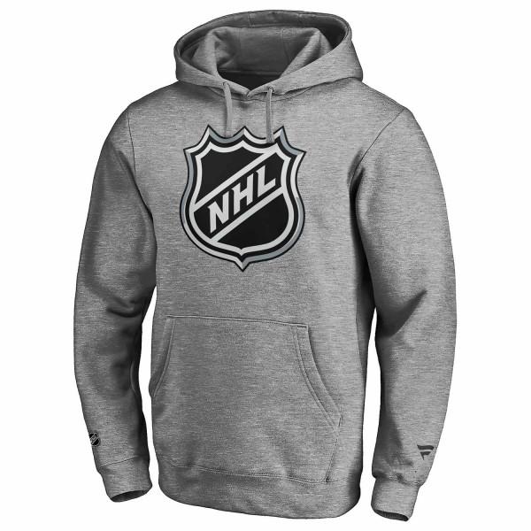 NHL Shield Logo Eishockey Hoodie Grau