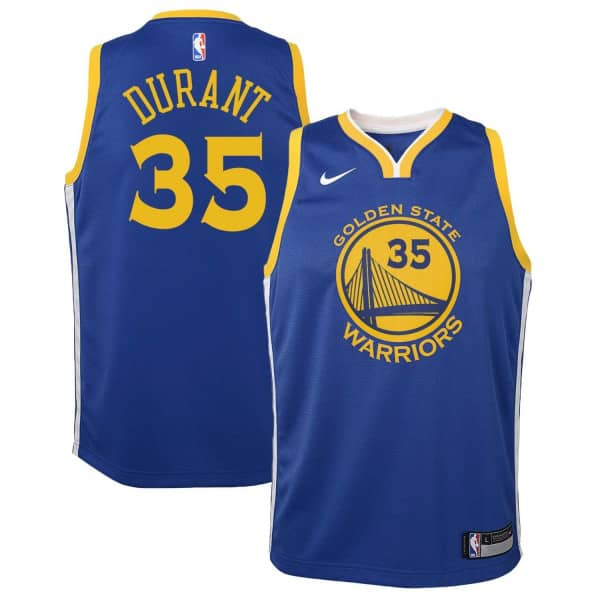 b70c39c7c Nike Kevin Durant  35 Golden State Warriors Youth Swingman NBA Jersey Blue