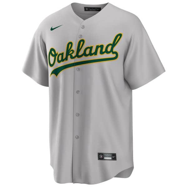 Oakland Athletics Nike MLB Replica Road Trikot Grau