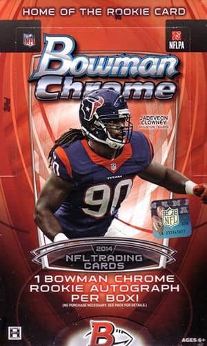 2014 Bowman Chrome Football Hobby Box NFL