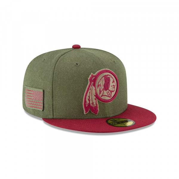 official photos 4c663 b6f3f New Era Washington Redskins 2018 Salute to Service 59FIFTY NFL Cap    TAASS.com Fan Shop