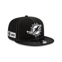 Miami Dolphins 2019 NFL Sideline Black 9FIFTY Snapback Cap Road
