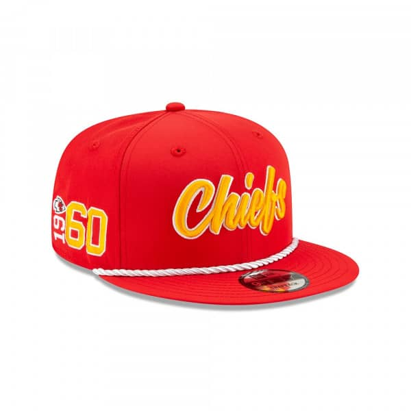 Kansas City Chiefs 2019 NFL On-Field Sideline 9FIFTY Snapback Cap Home