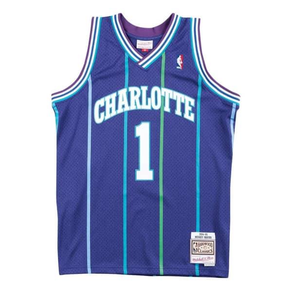 Muggsy Bogues #1 Charlotte Hornets 1994-95 Swingman NBA Trikot