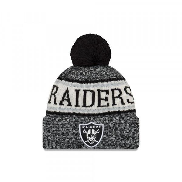 Oakland Raiders 2018 Sideline Sport Knit NFL Wintermütze