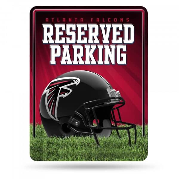 Atlanta Falcons Reserved Parking NFL Metallschild