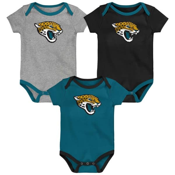 Jacksonville Jaguars Team Logo NFL Kleinkinder Body-Set (3er-Pack)
