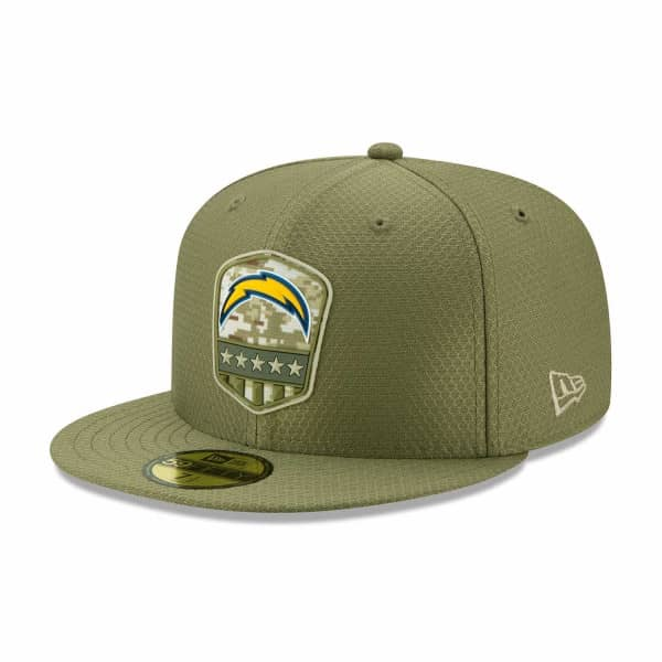 Los Angeles Chargers 2019 On-Field Salute to Service 59FIFTY NFL Cap