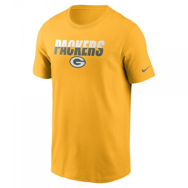 Green Bay Packers Split Team Name Nike Essential NFL T-Shirt Gelb