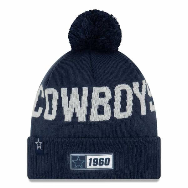 Dallas Cowboys 2019 NFL Sideline Sport Knit Wintermütze Road