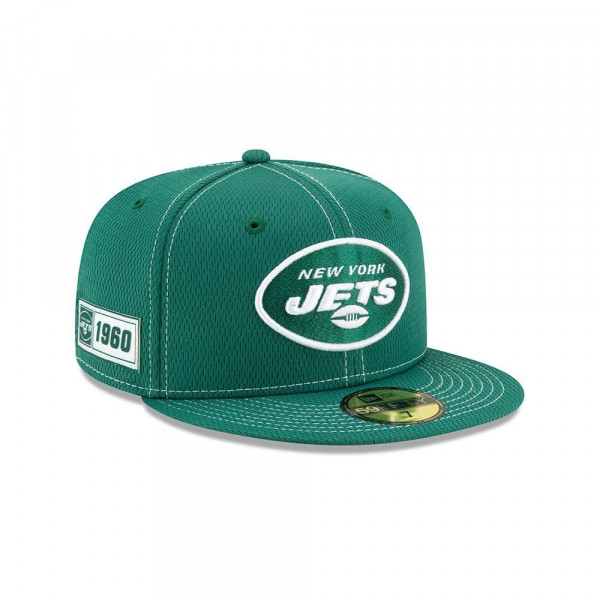 New York Jets 2019 NFL On-Field Sideline 59FIFTY Fitted Cap Road