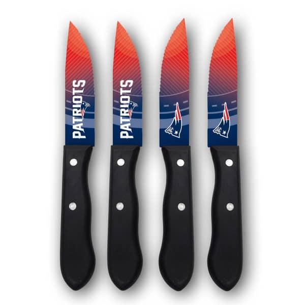 New England Patriots NFL Steakmesser Set (4 Stk.)