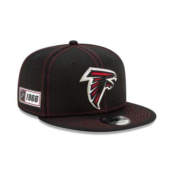 Atlanta Falcons 2019 NFL On-Field Sideline 9FIFTY Snapback Cap Road