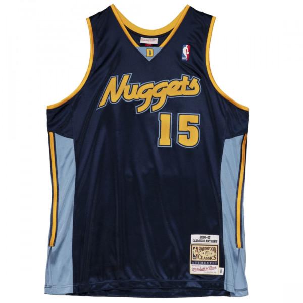 Carmelo Anthony #15 Denver Nuggets 2006-07 Mitchell & Ness Authentic NBA Trikot Navy