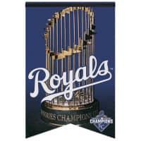Kansas City Royals 2015 World Series Champions Premium Felt MLB Banner