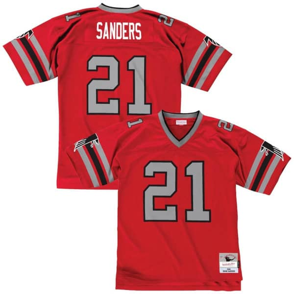 Deion Sanders #21 Atlanta Falcons Legacy Throwback NFL Trikot Rot