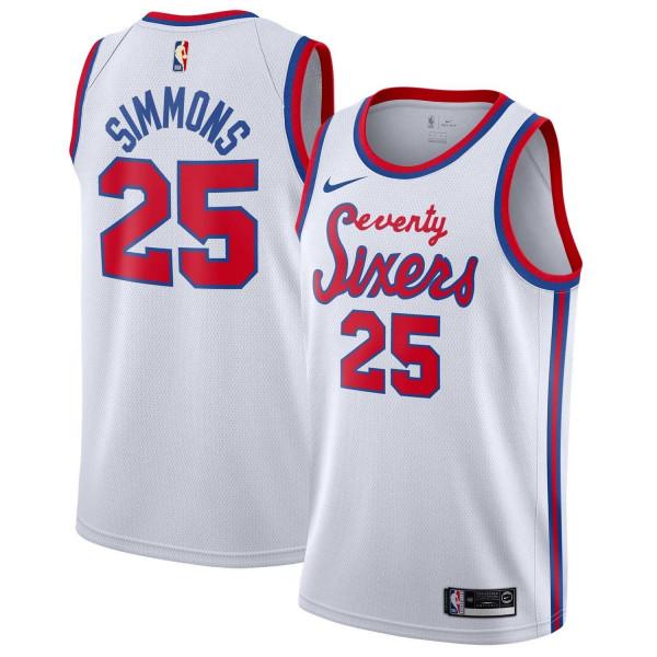 Ben Simmons #25 Philadelphia 76ers Nike Hardwood Classics Swingman NBA Trikot