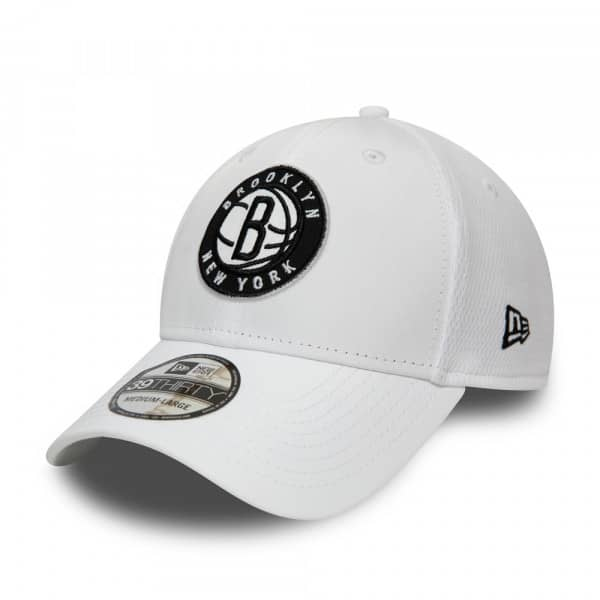 Brooklyn Nets Dashback New Era 39THIRTY Flex Fit NBA Cap Weiß