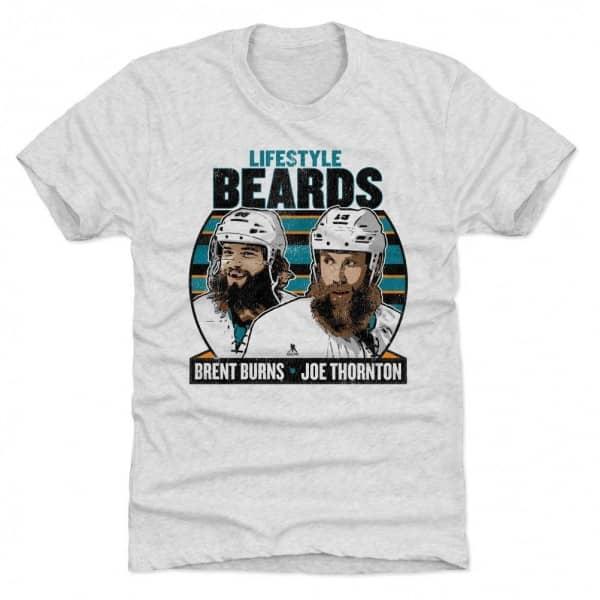 Brent Burns & Joe Thornton Lifestyle Beards NHL T-Shirt