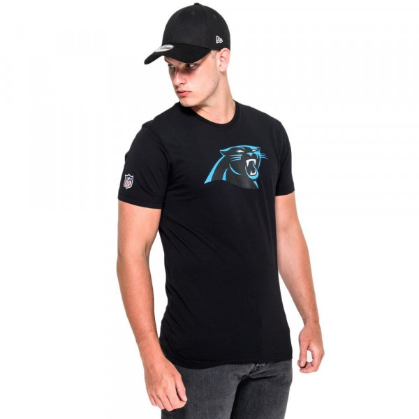 Carolina Panthers Team Logo Football NFL T-Shirt Schwarz