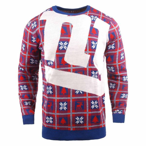 New York Giants Big Logo NFL Ugly Holiday Sweater