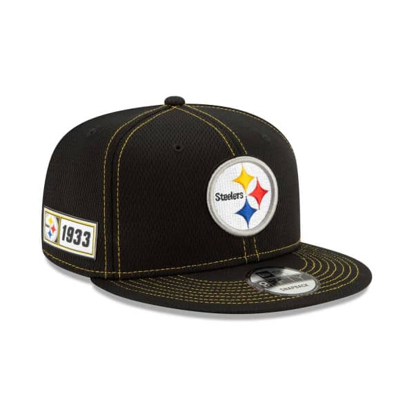 0964bc4c Pittsburgh Steelers 2019 NFL On-Field Sideline 9FIFTY Snapback Cap Road