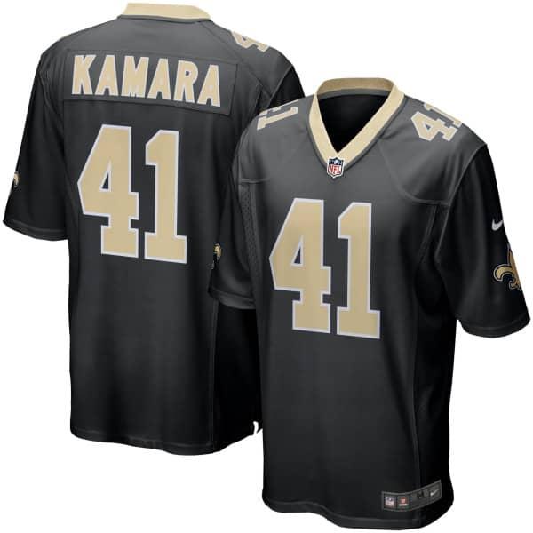 Alvin Kamara #41 New Orleans Saints Nike Game NFL Trikot Schwarz