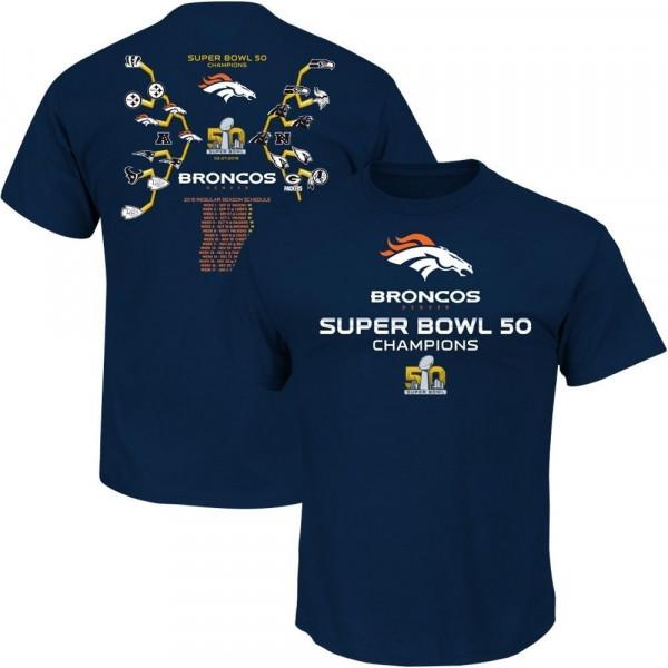 Denver Broncos Road To Super Bowl 50 NFL T-Shirt