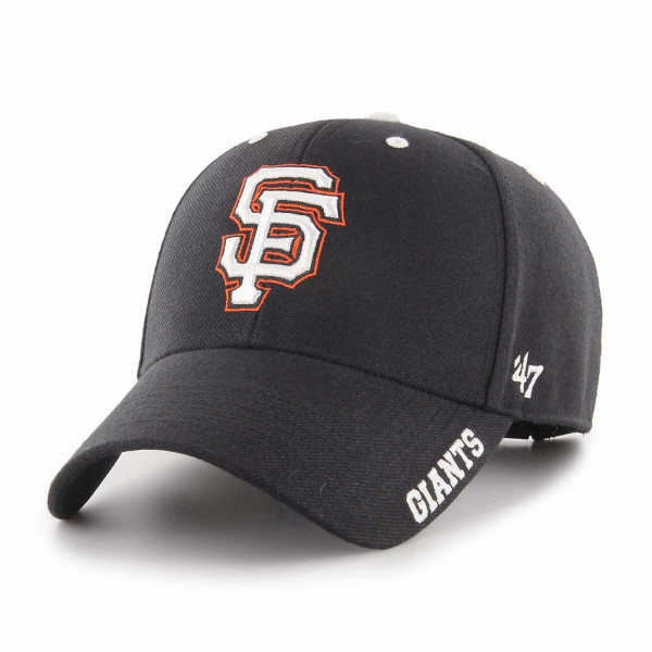new styles 47217 b2c77  47 Brand San Francisco Giants Defrost MVP Adjustable MLB Cap Black   TAASS.com  Fan Shop