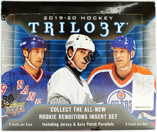 2019/20 Upper Deck Trilogy Hockey Hobby Box NHL