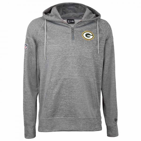 c4895b22c New Era Green Bay Packers Quarter-Zip Jersey NFL Hoodie Sweatshirt Grey