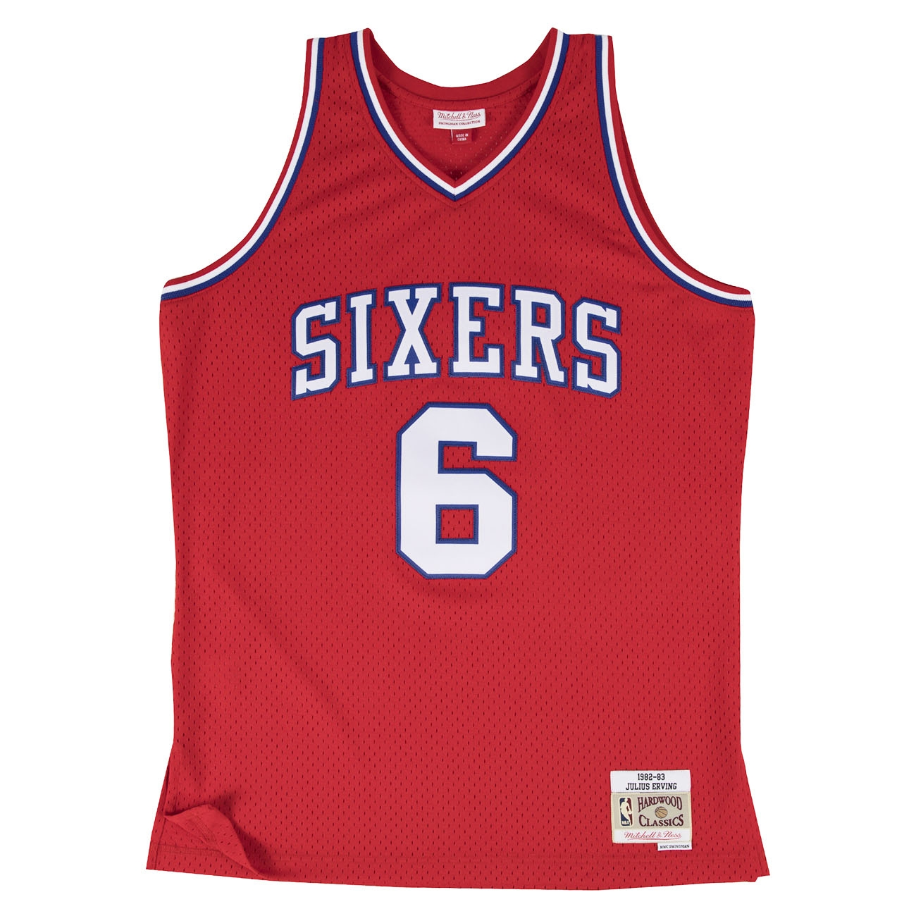 new product 8a2ef 812ca Mitchell   Ness Julius Erving  6 Philadelphia 76ers 1982-83 Swingman NBA  Jersey RED   TAASS.com Fan Shop