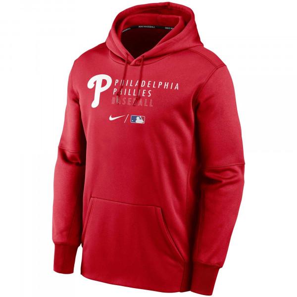 Philadelphia Phillies 2021 MLB Authentic Nike Therma Hoodie Rot