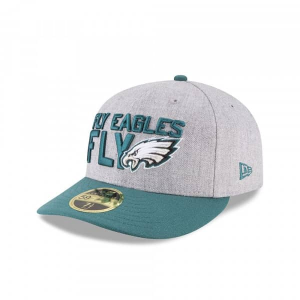 Philadelphia Eagles 2018 NFL Draft Low Profile 59FIFTY Fitted Cap