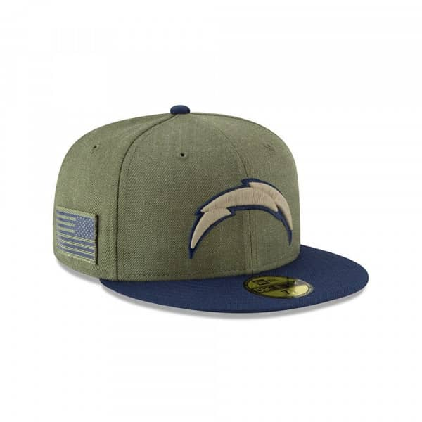 purchase cheap 14491 934f2 New Era Los Angeles Chargers 2018 Salute to Service 59FIFTY NFL Cap    TAASS.com Fan Shop
