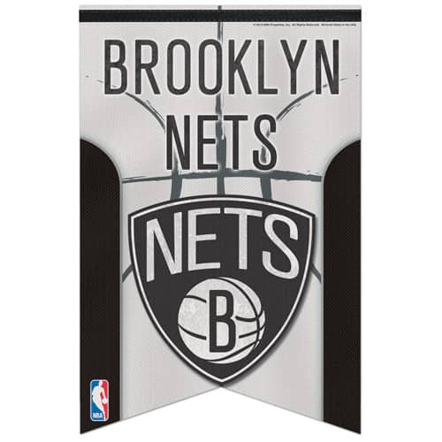 Brooklyn Nets Premium Felt NBA Banner