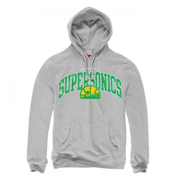 Seattle SuperSonics Team Arch NBA Sweatshirt Hoodie Grau