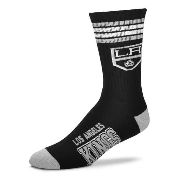Los Angeles Kings 4 Stripe Crew NHL Socken Schwarz