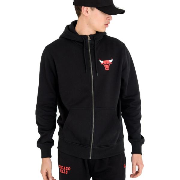 Chicago Bulls Small Logo Full-Zip NBA Hoodie