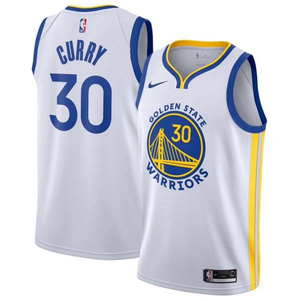 Stephen Curry #30 Golden State Warriors 2019/20 Nike Association Swingman NBA Trikot Weiß