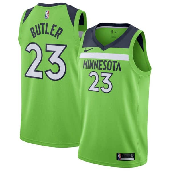Jimmy Butler #23 Minnesota Timberwolves Statement Swingman NBA Trikot Grün