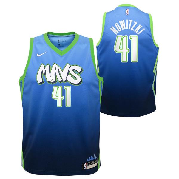 Dirk Nowitzki #41 Dallas Mavericks 2019/20 City Edition Swingman NBA Trikot (KINDER)