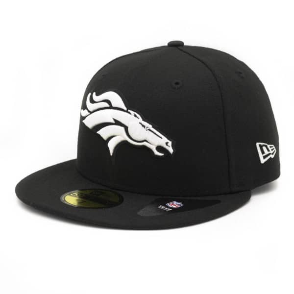 Denver Broncos Black & White 59FIFTY Fitted NFL Cap