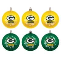 Green Bay Packers NFL Weihnachtskugeln Geschenk-Set (6-Teilig)