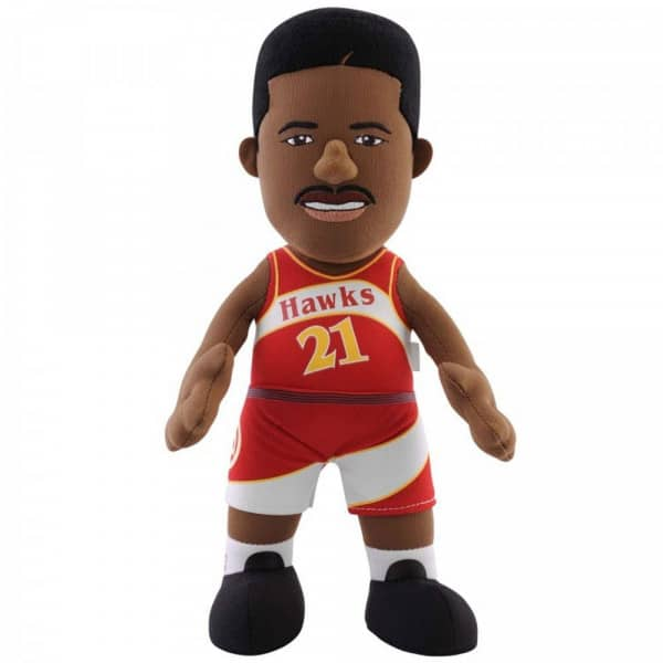 Dominique Wilkins Atlanta Hawks NBA Plüsch Figur (25 cm)