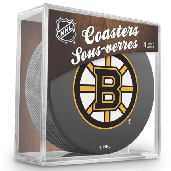 Boston Bruins NHL Eishockey Puck Untersetzer (4er Set)