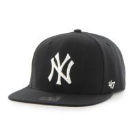 New York Yankees No Shot Captain Snapback MLB Cap Schwarz