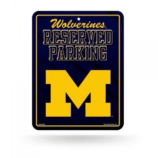 Michigan Wolverines Reserved Parking NCAA Metallschild
