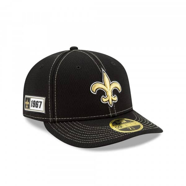 New Orleans Saints 2019 NFL On-Field Sideline Low Profile 59FIFTY Cap Road