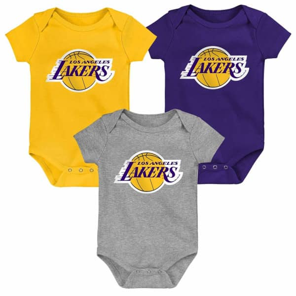 Los Angeles Lakers Born to Win NBA Kleinkinder Body-Set (3er-Pack)
